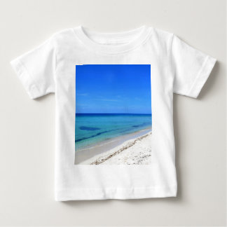 Deserted Cosumel Beach Calm Teal Water White Sand Baby T-Shirt