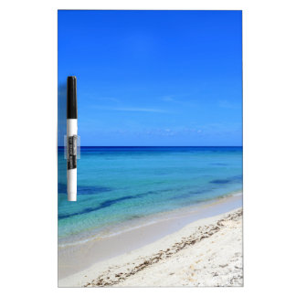 Deserted Cosumel Beach Calm Teal Water White Sand Dry-Erase Whiteboards