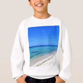 Deserted Cosumel Beach Calm Teal Water White Sand Sweatshirt