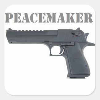 '' deserted eagle peacemaker square sticker