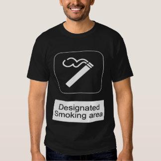 desginated smokeing area t shirt