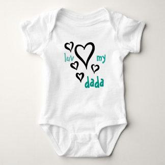 Desi Baby - Luv My Dada 1 Baby Bodysuit