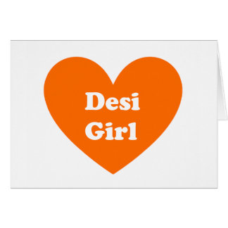 Desi Girl Greeting Card