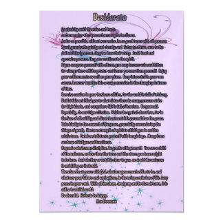 Desiderata 5x7 Magnets Magnetic Invitations
