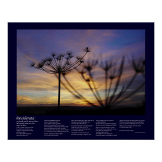 Desiderata - Autumn Sunset Echoes Poster
