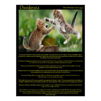Desiderata Cat Fight Posters