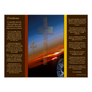 DESIDERATA Crosses Above Earth Posters