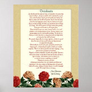 "Desiderata ""desired things"",  hibiscus flowers print"
