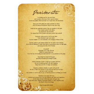 "Desiderata ""Desired Things"" on Vintage Parchment Magnet"