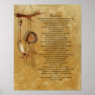 Desiderata dreamcatch poster