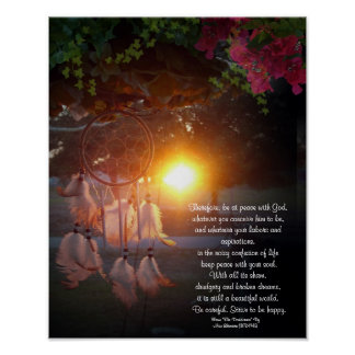 Desiderata Dreamcatcher sunset Poster