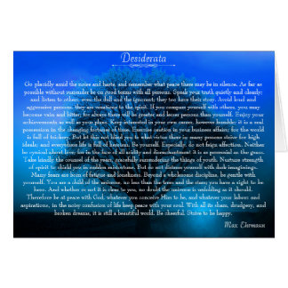 Desiderata Inspirational Devotional Poem Card