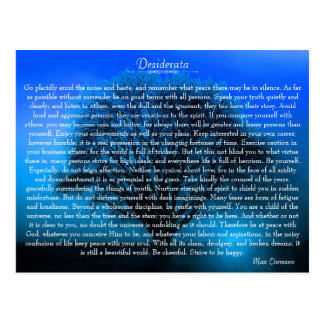 Desiderata Inspirational Poem with Mystical Tree Postcard
