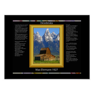 DESIDERATA Mountain Barn Posters