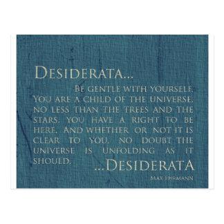 Desiderata On Canvas Postcard