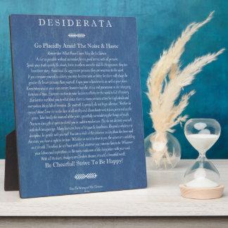 Desiderata on Denim Plaque