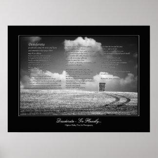 Desiderata Poem - Go Placidly Print