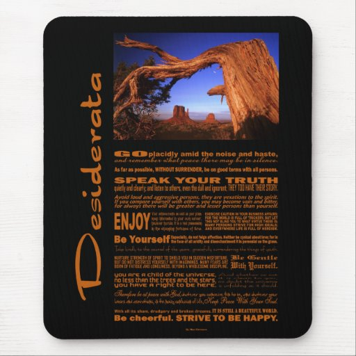 Desiderata Poem Monument Valley #1 Mousepads