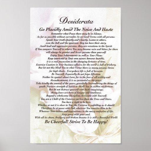 Desiderata Poem on Fading Tulips Watercolor Print
