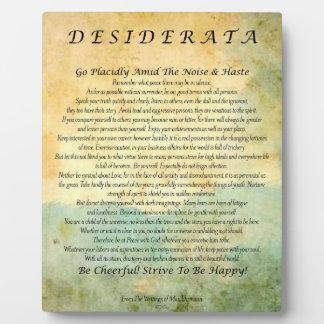 Desiderata Poem on Watercolor Forest Plaque
