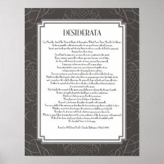 Desiderata Poem Print