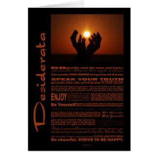 Desiderata Poem Praying At Sunsent Greeting Card