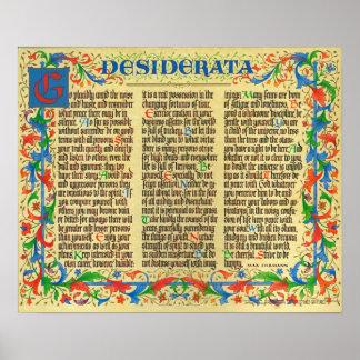 DESIDERATA Poster by Max Ehrmann=Florentine II