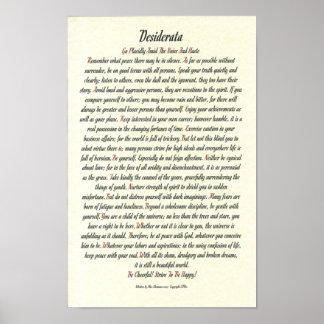 DESIDERATA Poster by Max Ehrmann - Romanesque