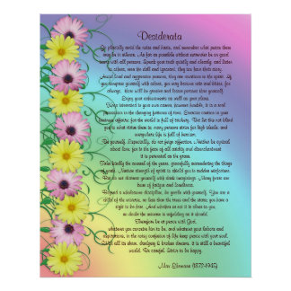 Desiderata prose rainbow colours posters