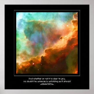 Desiderata quote - Region of The Omega Nebula Posters