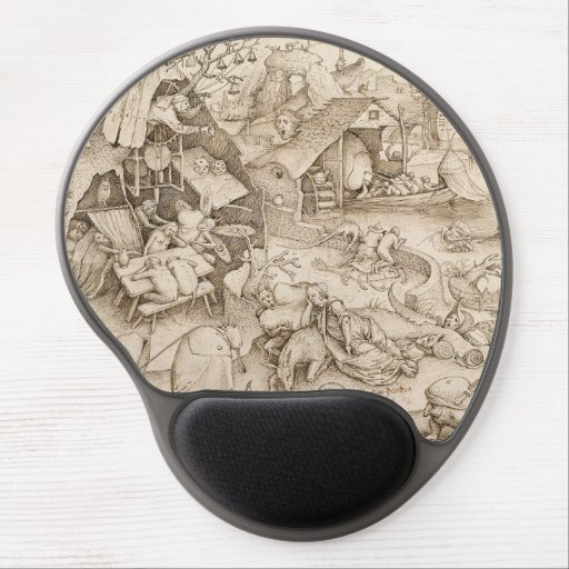 Desidia (Sloth) by Pieter Bruegel the Elder Gel Mouse Pad