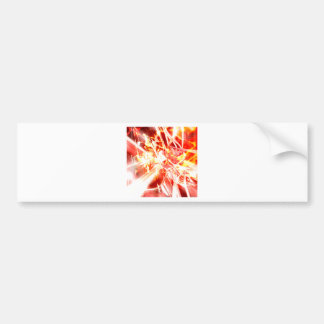 DESIGN9 SET3 orange Bumper Sticker