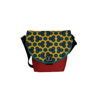 Design 02 Yellow Blue Circles Hexagon Tiled Repeat Commuter Bag