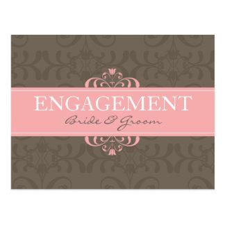 DESIGN 04- Colour: Pink & Chocolate Postcard