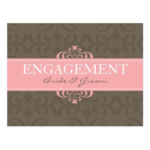 DESIGN 04- Colour: Pink & Chocolate Postcards