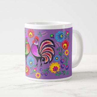 Design 2 in Purple Giant Coffee Mug