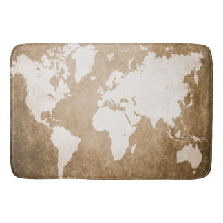 Design 56 world map bath mats
