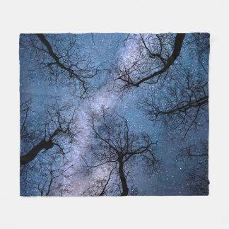 Design 85 blue sky stars fleece blanket