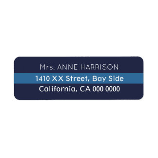 design a blue striped return address label