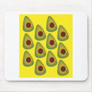Design avocados gold pieces mouse pad