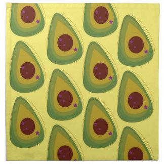 Design avocados gold pieces napkin
