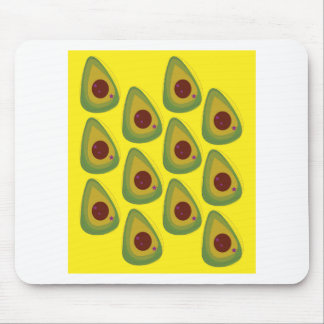 Design avocados on gold mouse pad