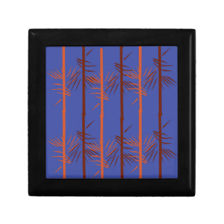 Design bamboo blue gift box