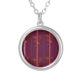 Design bamboo wine edition ethno silver plated necklace