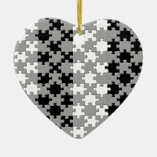 Design - Black & White Ceramic Heart Decoration