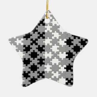 Design - Black & White Ceramic Star Decoration
