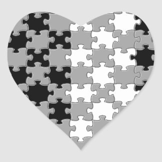Design - Black & White Heart Sticker