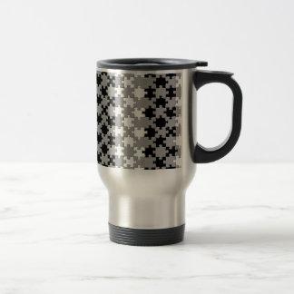 Design - Black & White Stainless Steel Travel Mug