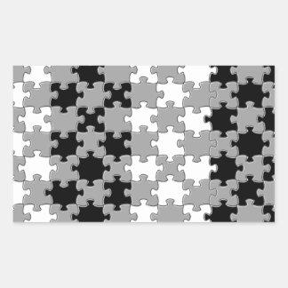 Design - Black & White Rectangular Sticker