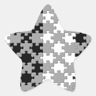 Design - Black & White Star Sticker